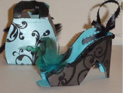 High Heel and purse Ornaments