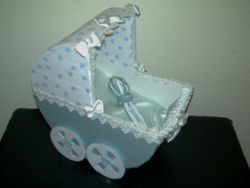 Baby Carriage Table Centerpiece