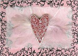 Feather Heart Card sample