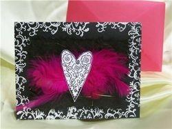 Feather Heart Card