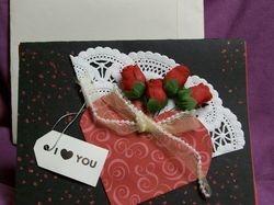 Valentine Roses Greeting card