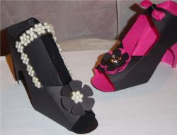 Custom Shoe Gift Favor Boxes set of 6