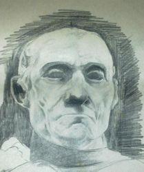Study of a sculpture bust