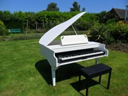 White Semigrand Piano Shell