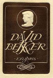 Ex libris David Bekker