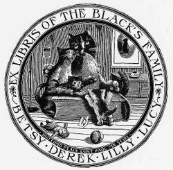 Ex libris of the Black's family
