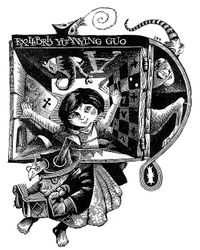 "Ex libris Yuanying Guo ""Alice in Wonderland"""