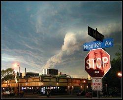 Tornado above Nicollet Avenue