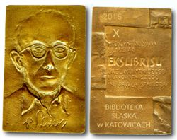 "The medal of 10th International ex libris contes ""Catovice-2016"". Poland"