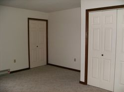 Bedroom showing utility area