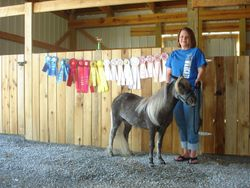 Steph and D.D. with 2010 ribbons