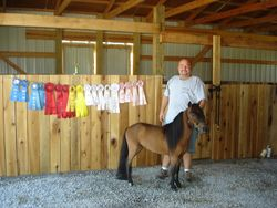 Darren and C.B. with 2010 ribbons