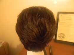 Back layered duby hair view