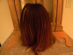 Naturally Treated wig before cut