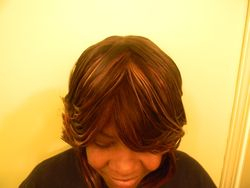 Naturally Treated wig TopView