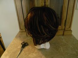 THis is how the wig looked on the head