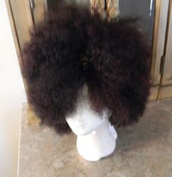 Natural Sista Kinky Curly Wig front