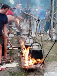 Kuvanje fish paprikasha - Bodrog fest 2009