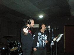 Ghoul and Nadir in studio