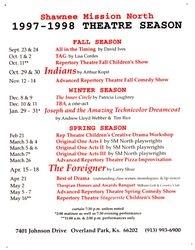 1997-1998 Season Poster