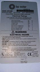 BP solar 183 watt
