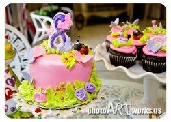 Girlie Bug Charm Cake