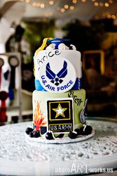 Army/Air Force Grad cake