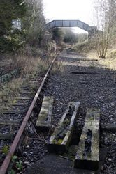 View looking towards the footbridge in the direction on Brownhills