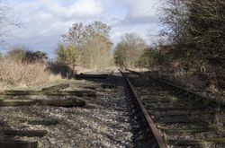 Trackbed looking towards Lichfield