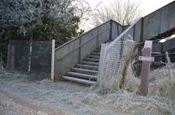 New fence still intact