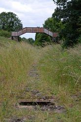Danger!! Open service holes along the trackbed