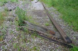Rails and sleepers remain in the same location