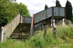 SSR Railway sign and footbridge