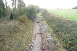 Rail and sleepers moved around