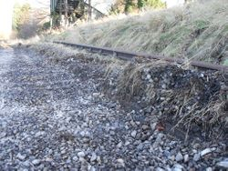 Trackbed as at 9th Jan 2011