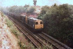 two class 20s coal train 1975