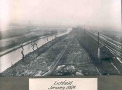 Sandfields with the Lichfield canal on the left