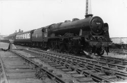 46122 with diverted express at Bescot 1958