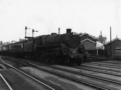 73019 on Pines Express at Walsall 1959
