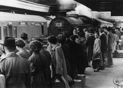 Excursion on Platform 2 at Walsall 1950
