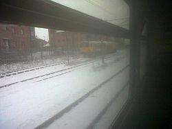 Amey Plc track/ balast tamper train