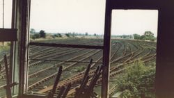 View from derilict No3 Signal Box