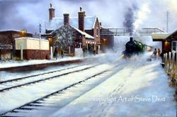 Painting of Pelsall Station