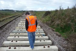 New tarmac branded sleepers still in place