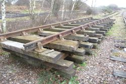 Old wooden sleeper sections