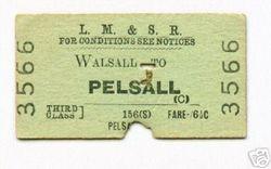 Walsall to Pelsall