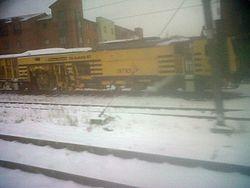 Amey plc track/balast tamper train