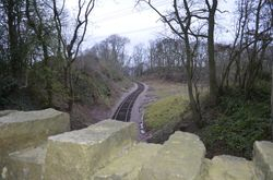 Trackbed looking in the direction of the Great Central
