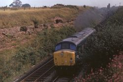 Class 44 heading southbound