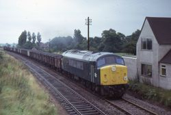 Skiddaw coal train by station-house 1973